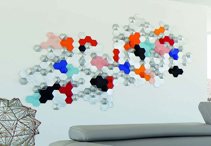 Constellation-Hexagone 3D paper art Rochebobois 1 Juin 2015 Laure Devenelle