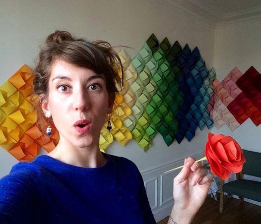 Le Printemps Flower Swatch Paper Art Rainbow color Origami Laure Devenelle