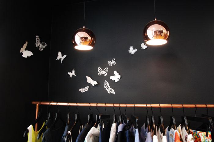 Vitrine-Habibliothèque Papillon Paper Art juin 2015 Laure Devenelle