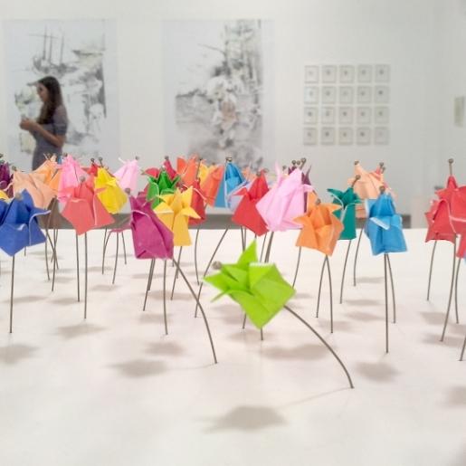 Champ de tulipe miniature, Origami, Laure Devenelle