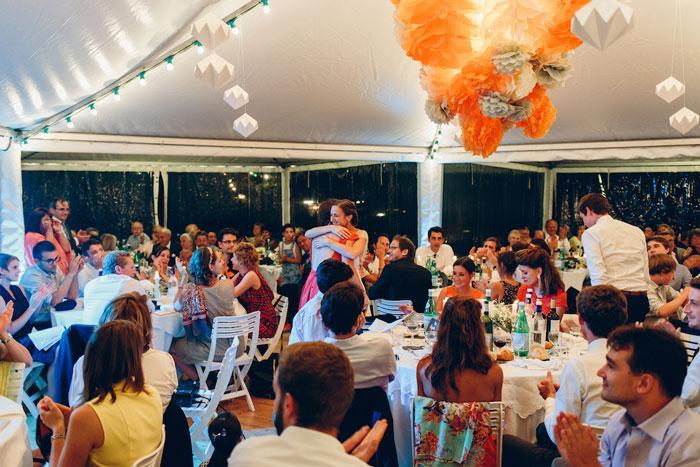 Mariage, public, décors, installation, couleurs, Laure Devenelle