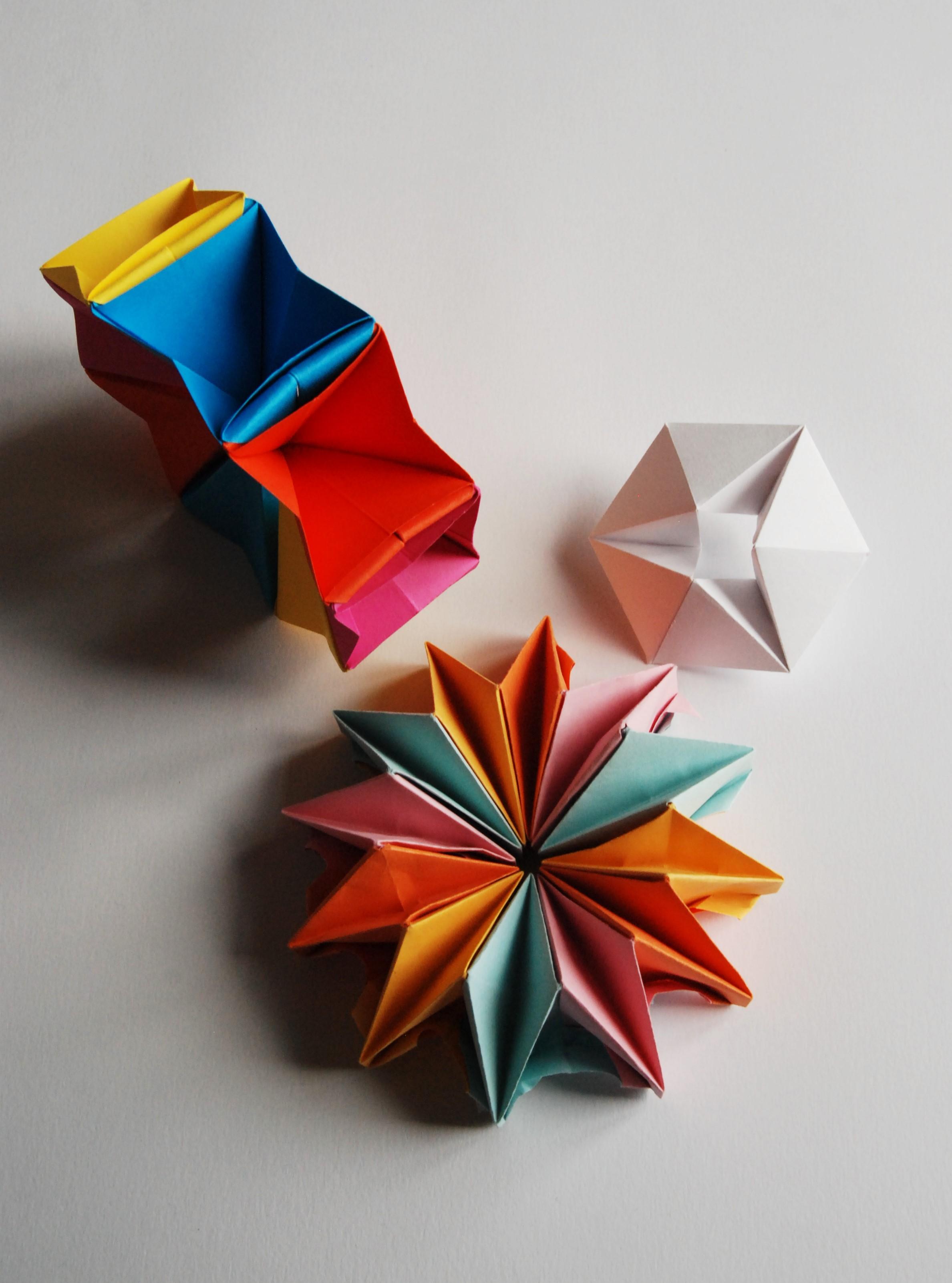 Jouet Modulable 3D papier origami Kaléidoscopes ©-Laure-Devenelle
