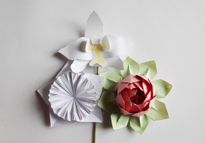 Set-Design- Fleur origami- Lotus-Orchidée-4-©-Laure-Devenelle Wedding design Evénements