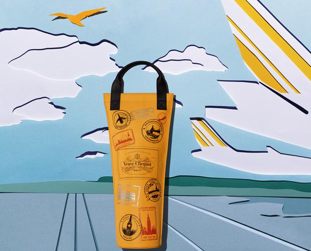 Set Design Paper ArtAéroport, déplacement, Voyage, affaires, Fraîcheur, champagne, Paper Art, Kirigami Laure Devenelle Pack Journey pour VCP Veuve Clicquot Ponsardin