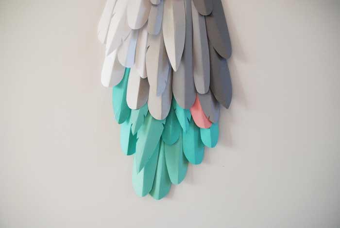 Oiseau, queue, 3D paper, sculpture, volume, kirigami, découpe papier, scenographie de vitrine avec mapetitevitrine, création, 2018, Laure Devenelle