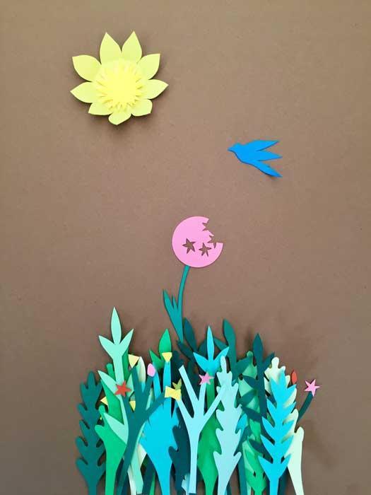 jardin de papier, superposition paper art, papier clairefontaine, Laure Devenelle