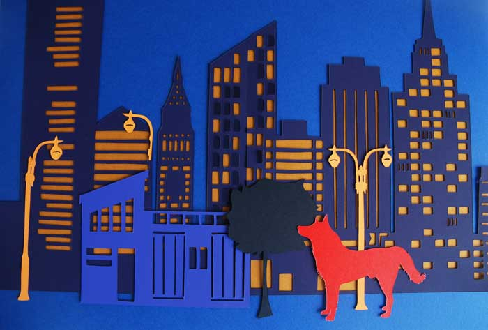 New York, Ville papier découpé, Kirigami, Nouvel An Chinois, 2018, Laure Devenelle