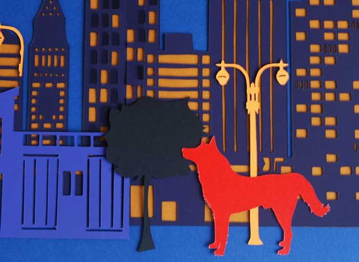 New York, zoom, Ville papier découpé, Kirigami, Nouvel An Chinois, 2018, Laure Devenelle