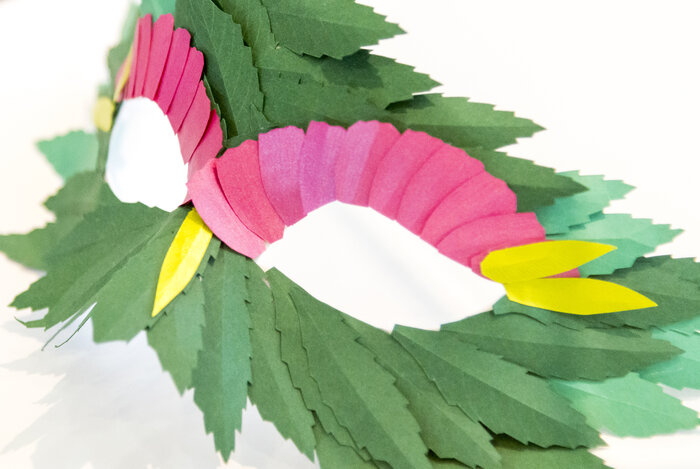 hybride-masque-vegetal-papier-exposition-personnelle-metamorphoses-Lamaziere-cormeilles-en-parisis-©-Laure-Devenelle-2018