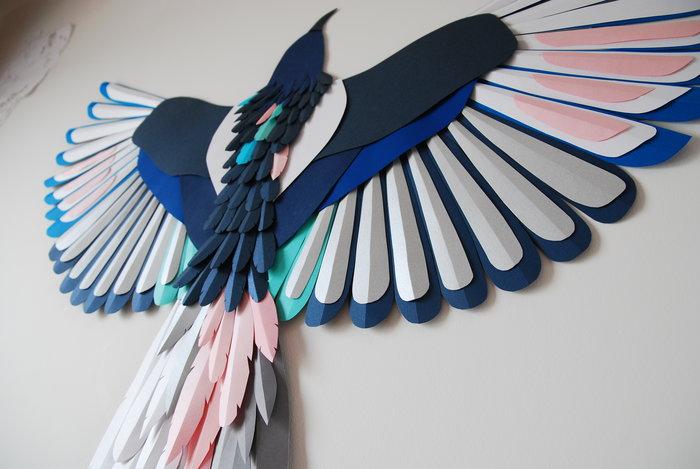 vole-de-tes-propres-ailes-oiseau-paper-art-exposition-personnelle-metamorphoses-Lamaziere-cormeilles-en-parisis-©-Laure-Devenelle-2018