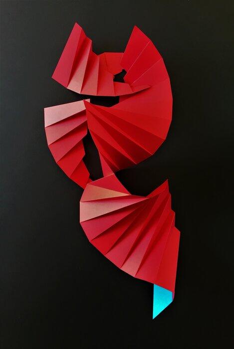 origami-rouge-colimaçon-nouvel-an-chinois-paper-art-pour-la-roche-posay-laure-devenelle