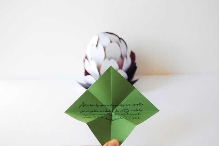 menu-entrée-design-paper-artichaut-objet-concours-bocuse-d-or-2019-Laure-Devenelle