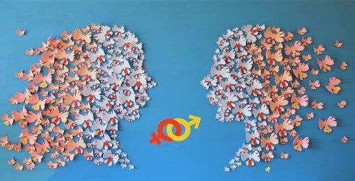 installation-murale-egalite-femme-homme-orchidée-colombe-visages-profiles-paper-art-oeuvre-participative-avec-femmes-de-la-maison-des-droits-des-femmes-Mitry-Mory-creation-Laure-Devenelle-2019