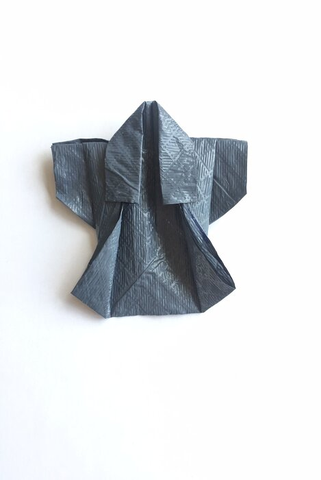 kimono, origami paper resistant, papier sac poubelle handy bag, creation, Laure Devenelle 2019