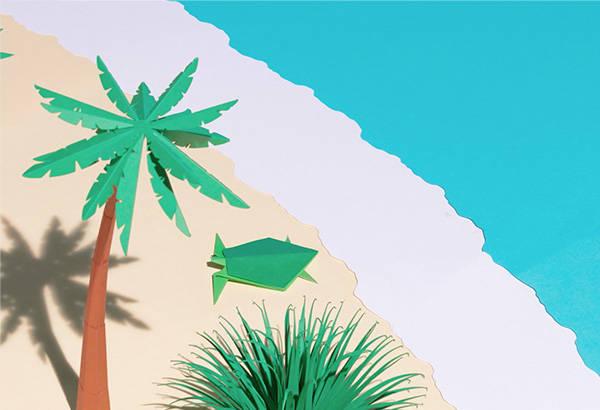 Origami-tortue-décor-paper-palmier-collection-lunettes-play-wild-generale-d-optique-wwf-Laure-Devenelle