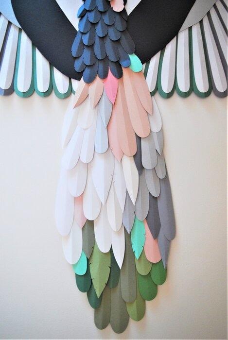 Plumage-Oiseau-paper-art-sculpture-2020-Laure-Devenelle