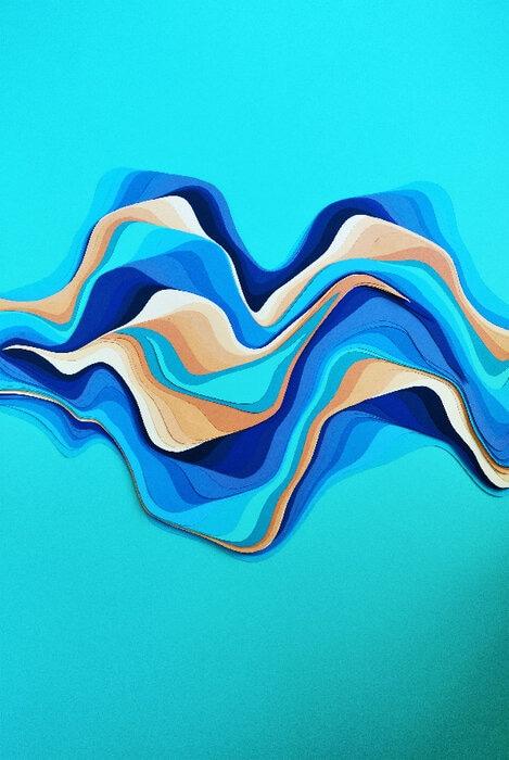 La-mare-waves-paper-mer-sable-illustration-papiers-superposés-Laure-Devenelle