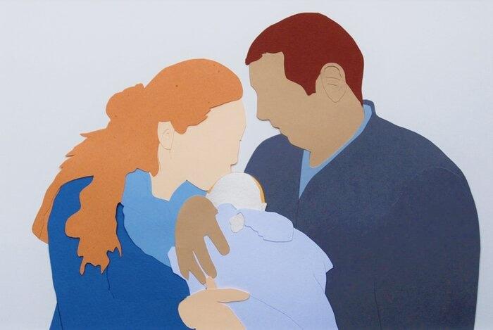 illustration-paper-art-naissance-faire-part-portrait-famille-laure-devenelle